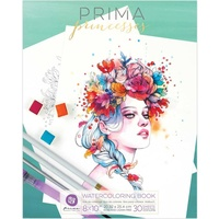 Prima Watercolour Coloring Book Princesses Volume 1