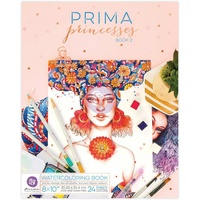 Prima Watercolour Colouring Book Princesses Volume 2
