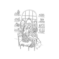"Prima Princesses Cling Stamp 5x7"" Gussy Up"