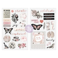 "Prima Amelia Rose Chipboard Stickers 5x8"" 2pc"