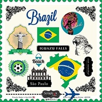 Scrapbook Customs Sticker Brazil Sightseeing