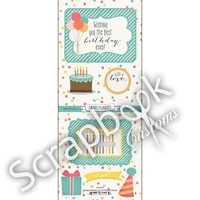 HAPPY BIRTHDAY CRAFT PLAQUE STICKERS