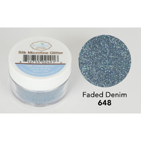 Elizabeth Craft Designs Silk Microfine Glitter 8gm Faded Denim