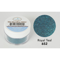 Elizabeth Craft Designs Silk Microfine Glitter 8gm Royal Teal