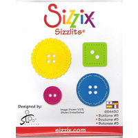 Sizzix Sizzlits Die Buttons #5
