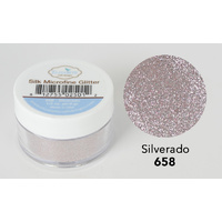Elizabeth Craft Designs Silk Microfine Glitter 8gm Siverado