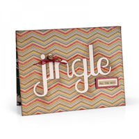 Sizzix Thinlits Dies Jingle Cutout Card