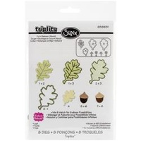 Sizzix Triplits Die Set Leaf  8pc