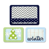 Sizzix Thinlits Dies Winter 3pc Life Made Simple
