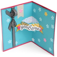 Sizzix Framelits Dies 3D Card With Dropins By Stephanie Barnard