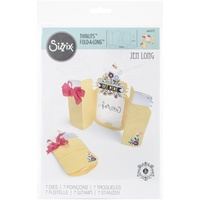 Sizzix Thinlits Die Fold a Long Card Jar 7pc by Jen Long