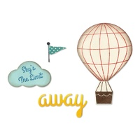 Sizzix Framelits Die & Stamp Hot Air Balloon By Jillibean Soup