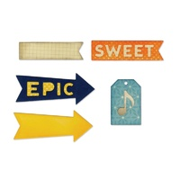 Sizzix Thinlits Dies Epic & Sweet 6pc By Jillibean Soup