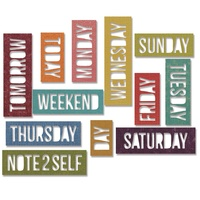 Sizzix Thinlits Dies Block Daily Words 12pc By Tim Holtz