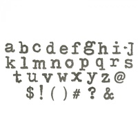 Sizzix Bigz Xl Die Typo Lower Case Alphabet By Tim Holtz tzd