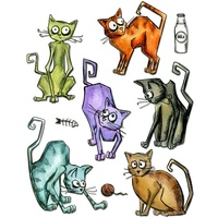 Sizzix Framelits Dies Crazy Cats  22pc By Tim Holtz