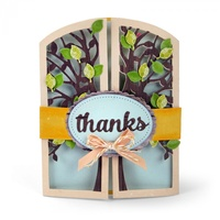 Sizzix Thinlits Die Tree Gatefold Card 15pc by Lori Whitlock