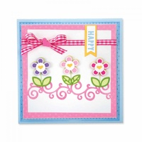 Sizzix Framelits Die Drop-Ins Card Front with Borders 16pc Set by Stephanie Barnard