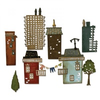 Sizzix Thinlits Die Suburbia Cityscape 34pk by Tim Holtz