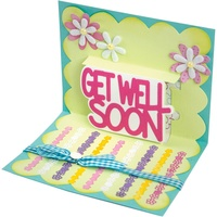 Sizzix Thinlits Die Drop-Ins Get Well 3D 4pc by Stephanie Barnard