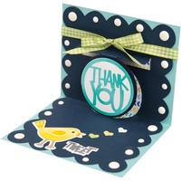 Sizzix Thinlits Die Drop-Ins Thank You 3d 3pc by Stephanie Barnard