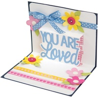 Sizzix Thinlits Die Drop-Ins You Are Loved 3D 4pc by Stephanie Barnard