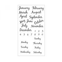 Sizzix Clear Stamps Calendar by David Tutera