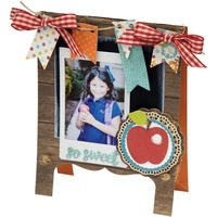 Sizzix Thinlits Die Chalkboard Easel Card by Lori Whitlock