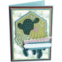Sizzix Thinlits Die Succulent Silhouette 3pc by Lynda Kanase