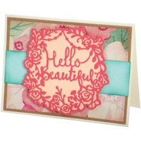Sizzix Thinlits Die Hello Beautiful 2pc by Katelyn Lizardi