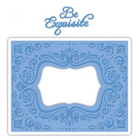 Sizzix Impresslits Embossing Folder Aquarius Frame By Courtney Chilson