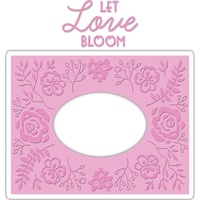 Sizzix Impresslits Embossing Folder Garden Frame by Courtney Chilson