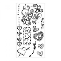 Sizzix Clear Stamps Doodle Love by Courtney Chilson
