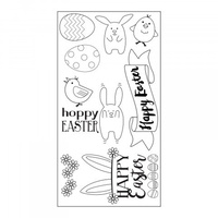Sizzix Clear Stamps Hoppy Easter by Lynda Kanase