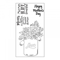 Sizzix Clear Stamps Mother's Day by Lynda Kanase