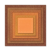 Sizzix Framelits Die Stitched Squares 6pc by Tim Holtz