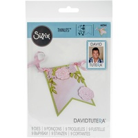 Sizzix Thinlits Die Floral Banner 9pc by David Tutera