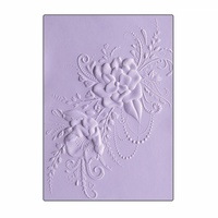 Sizzix 3D Textured Impressions Embossing Folder Flower Heart Doodle by Courtney Chilson