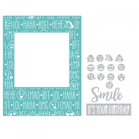 Sizzix Impresslits Embossing Folder Birthday Smiles by Courtney Chilson