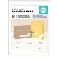 "We R Memory Keepers Embossing Folder Phrase Strips 6x2"" Rise & Shine by Amy Tan"