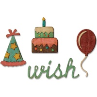 Sizzix Sidekick Side-Order Die Set Birthday by Tim Holtz
