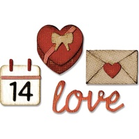 Sizzix Sidekick Side-Order Die Set Valentine by Tim Holtz