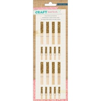 American Crafts Pegs Craft Market Gold Glitter