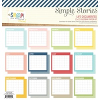 SIMPLE STORIES LIFE DOCUMENTED CALENDAR PAGE KIT