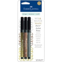 Faber Castell Metallic Pens Classic  Gold Copper Silver