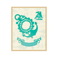 Couture Creations Sea Breeze Die Wreathed Anchor & Banner 65x75mm