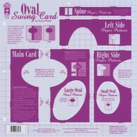 Hot Off The Press Template Oval Swing Card