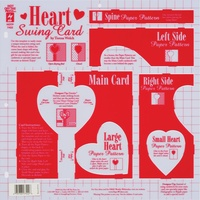 Hot Off The Press Template Heart Swing Card