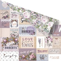 "Prima Lavender 12x12"" Cardstock Communication Through Love"