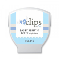 SIZZIX   ECLIPS CARTRIDGE GREEK & SASSY SERIF ALPHA